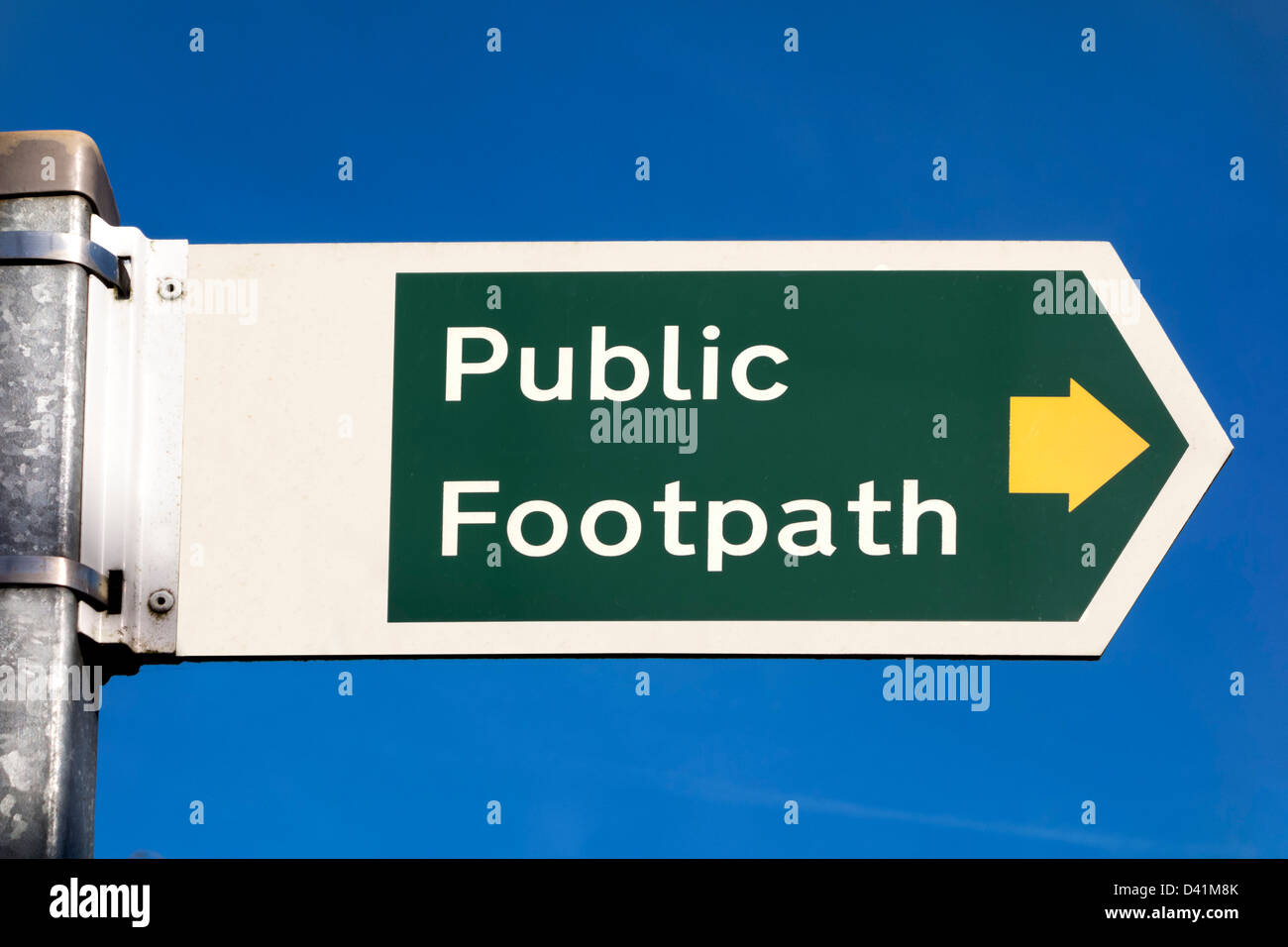 Public Footpath sign, UK - Stock Image