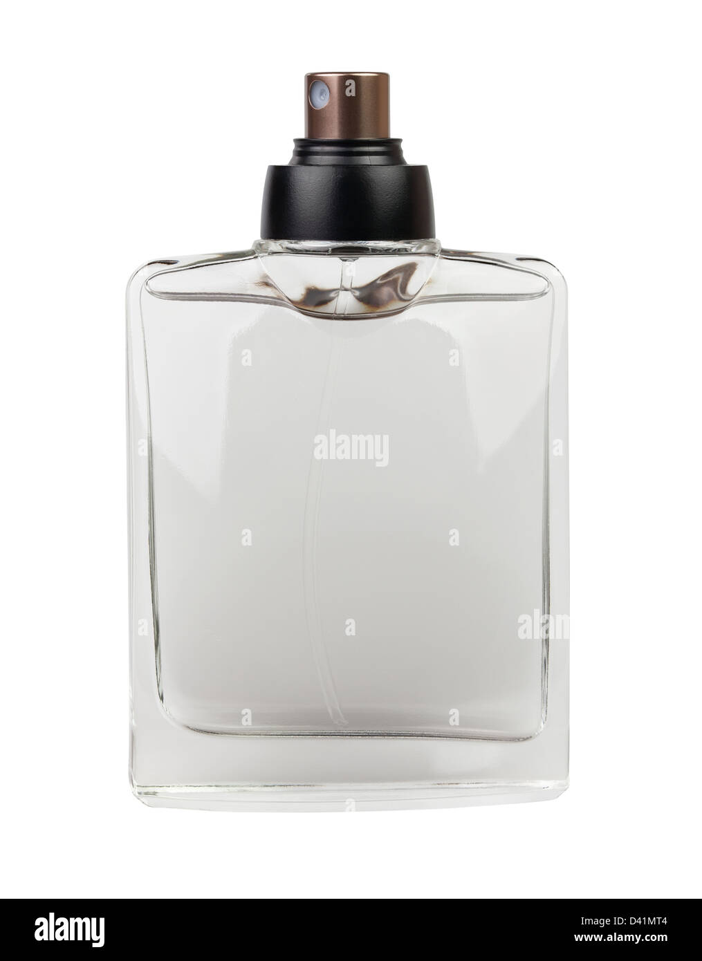 perfume bottle on white background - Stock Image