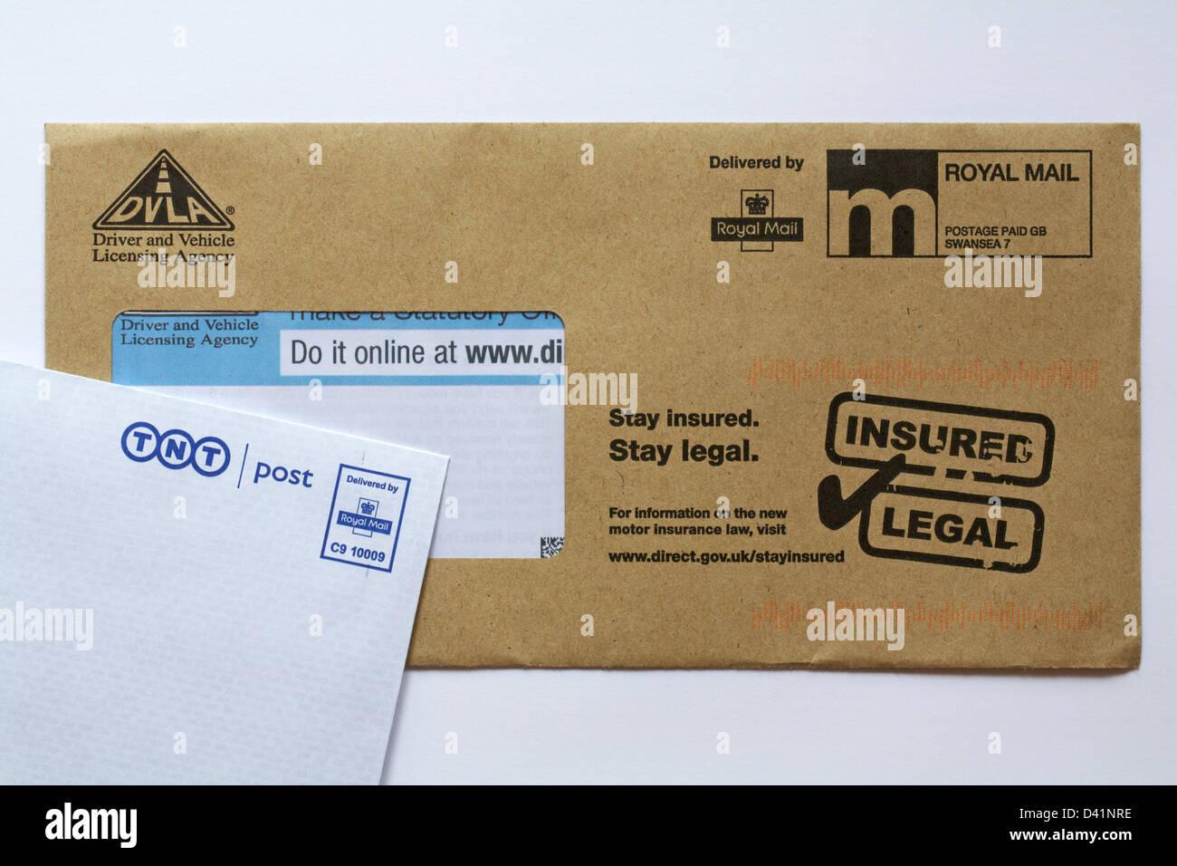 DVLA car tax renewal post - Stock Image