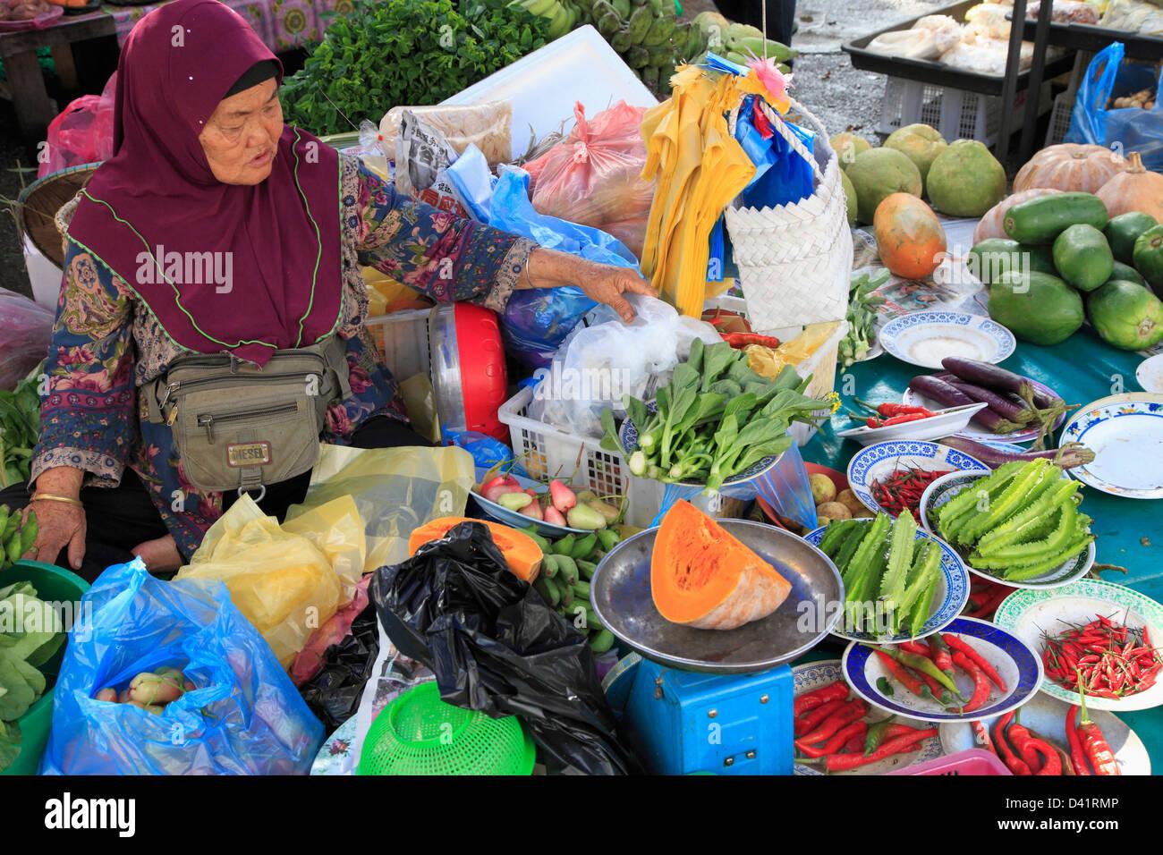 Brunei, Bandar Seri Begawan, Tamu Kianggeh, market, - Stock Image