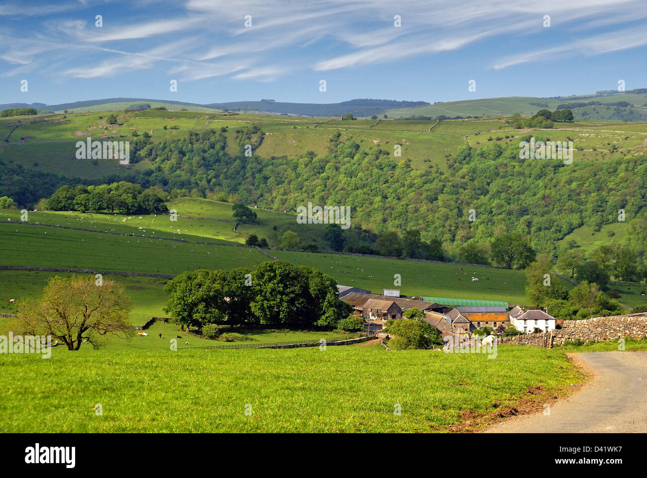 The Manifold Valley in the English Peak District. Stock Photo