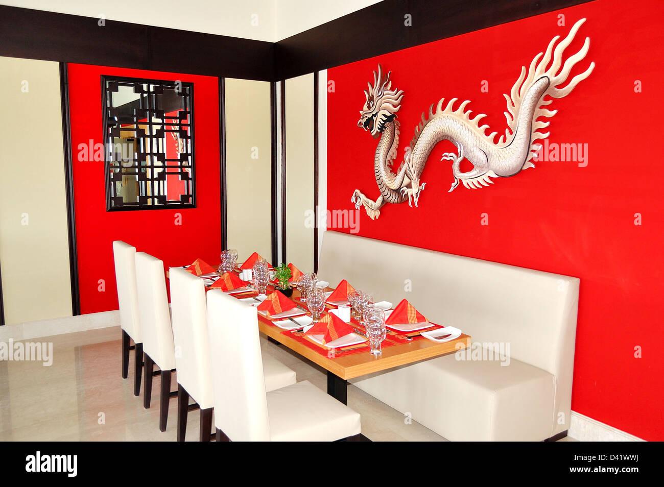 The Chinese Restaurant Interior Of Luxury Hotel Ras Al Khaimah Uae Stock Photo Alamy
