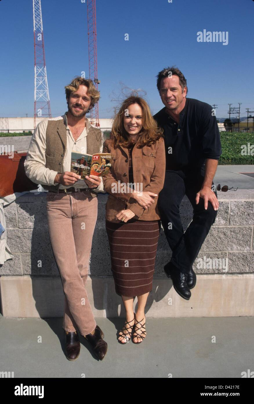 catherine bach with john schneider and tom wopat dukes of hazzard