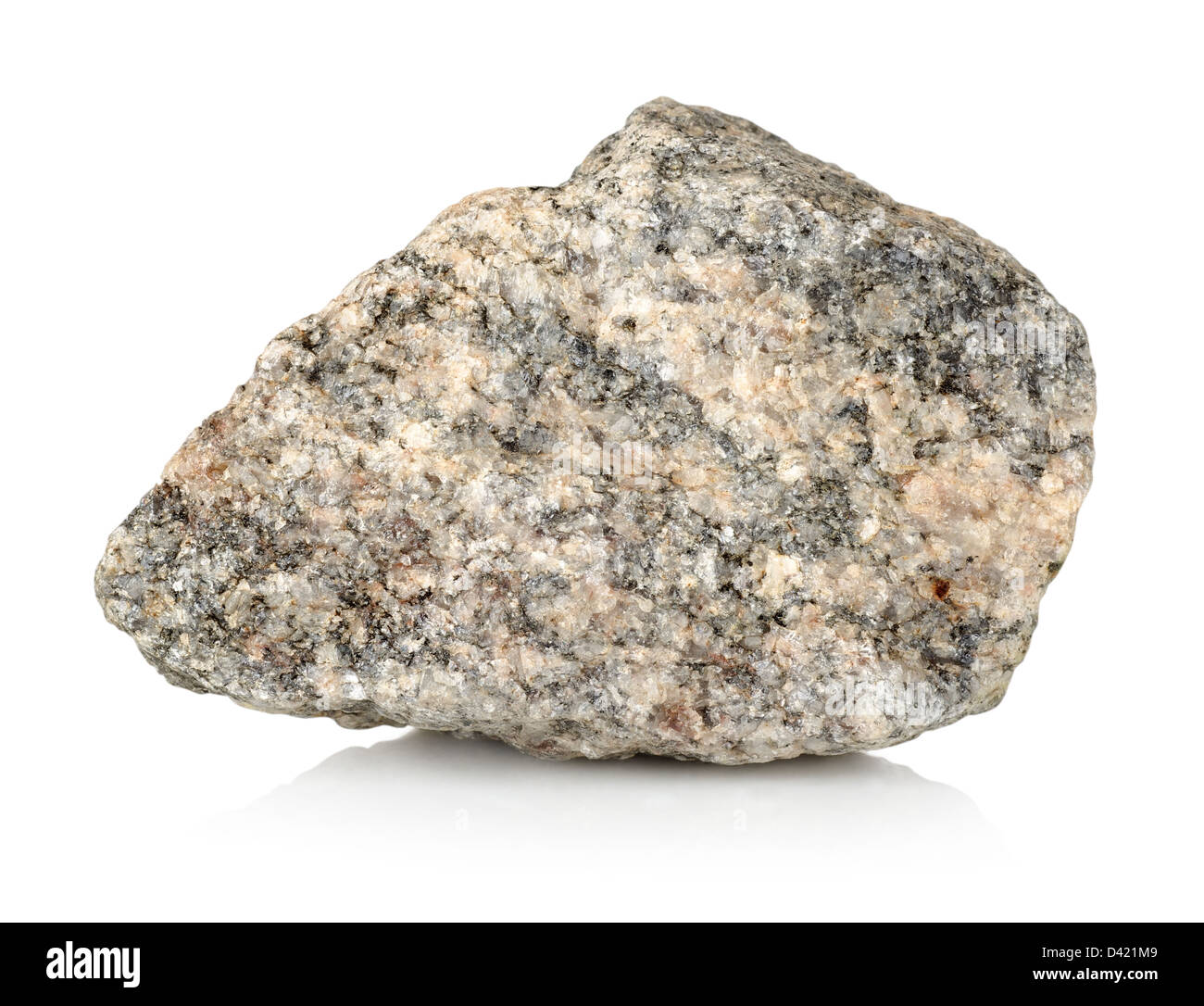 Granite Stone Isolated On A White Background Stock Photo