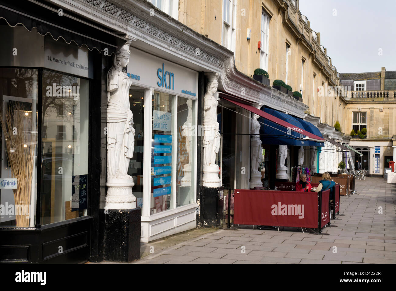 Montpellier Walk Shop fronts in Cheltenham Gloucestershire - Stock Image