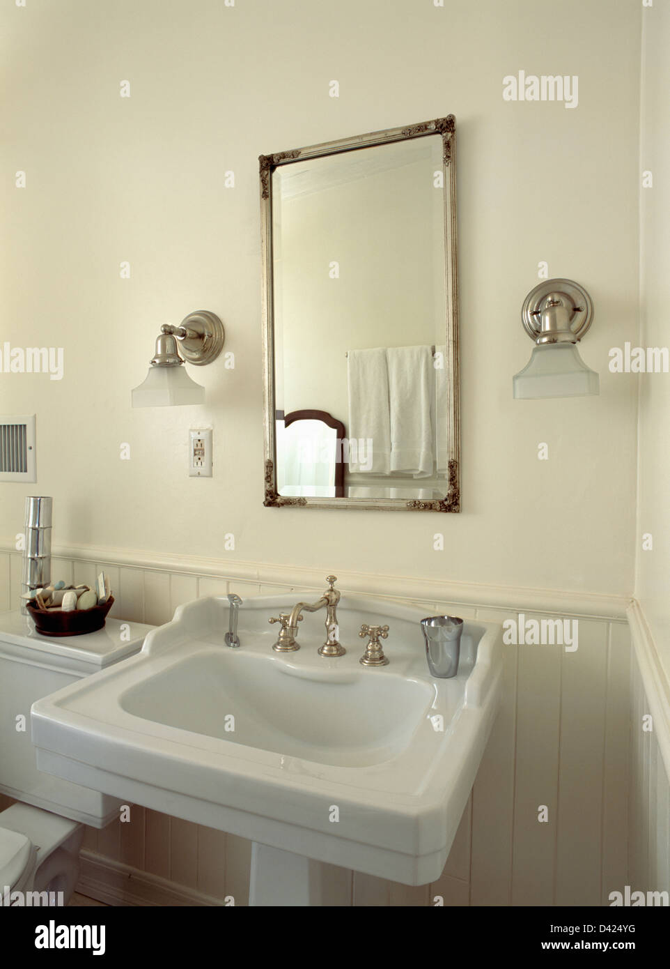bathroom lights over mirror glass shades on chrome wall lights on either side of 16157
