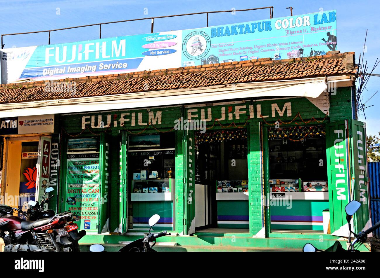 Digital Imaging Service shop Bhaktapur Nepal - Stock Image