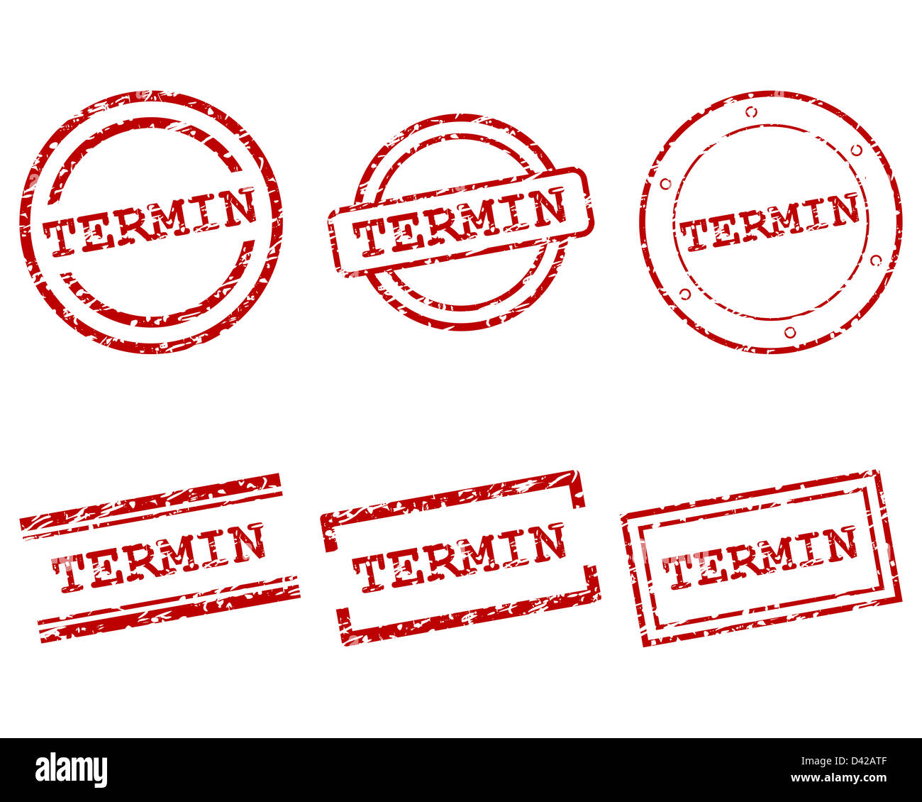 Termin stamps - Stock Image