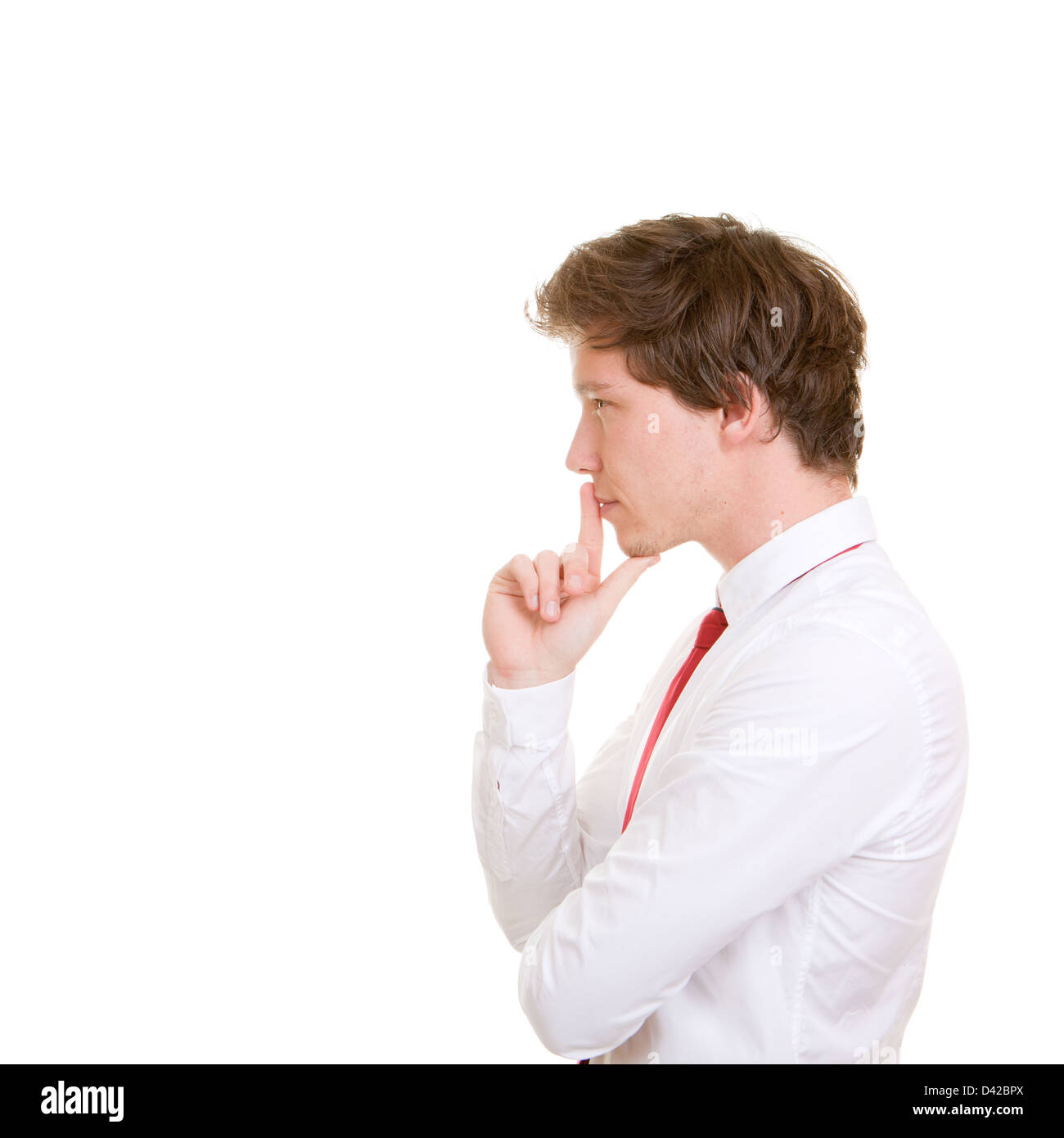 decision making, business man thinking - Stock Image
