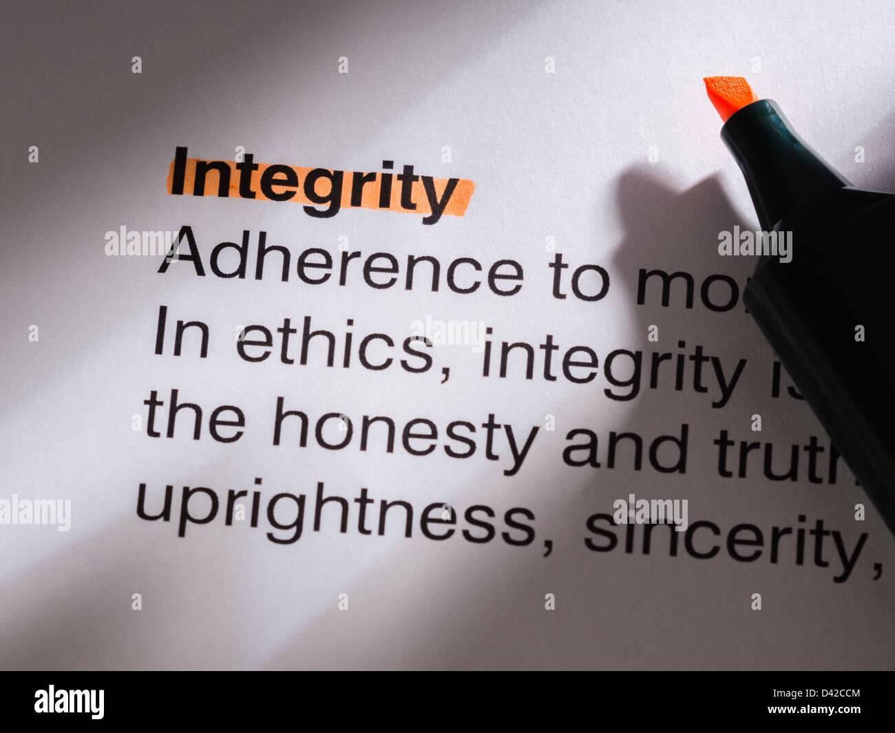 integrity - Stock Image