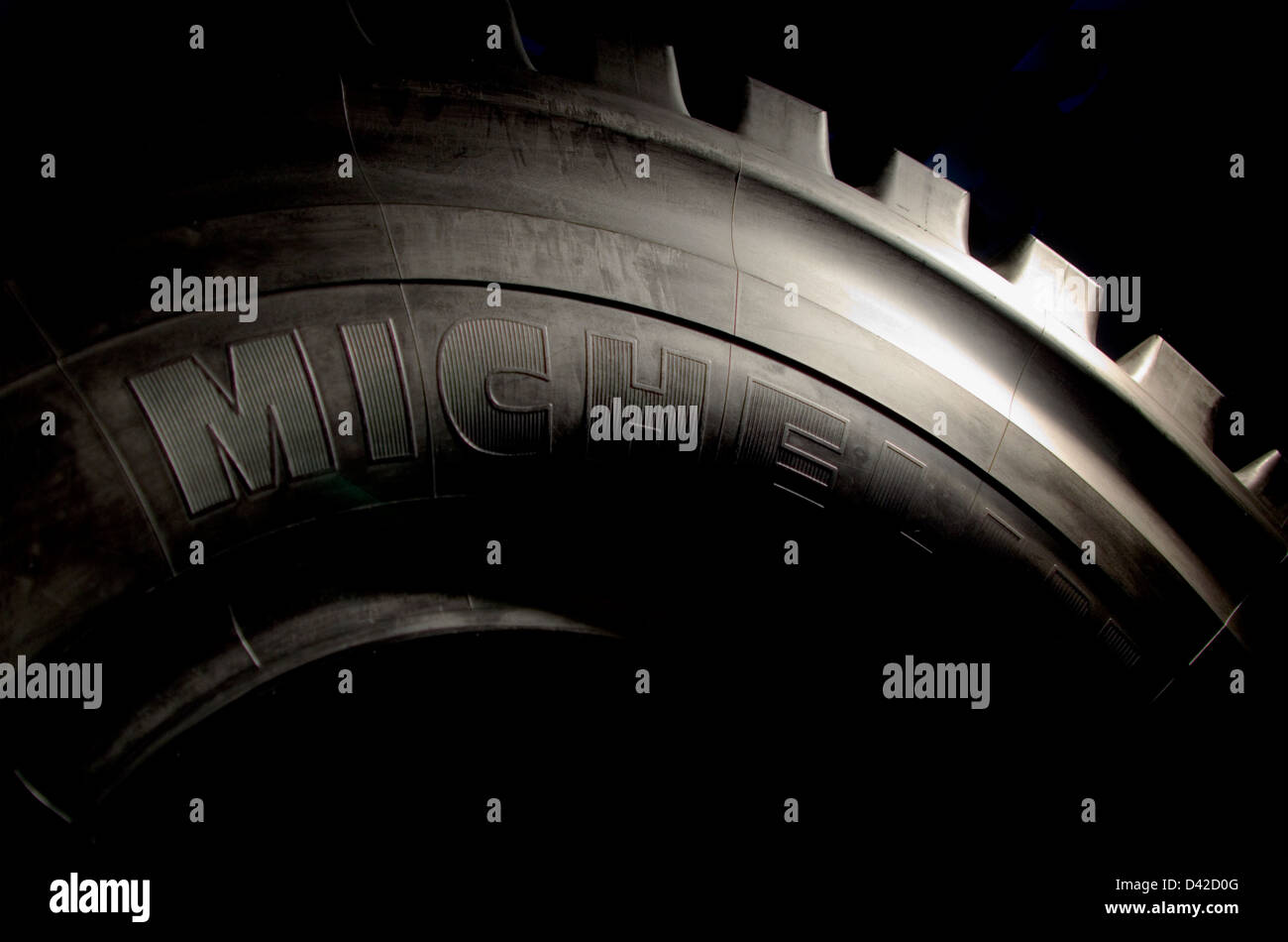 Michelin tyre from a mining vehicle. - Stock Image