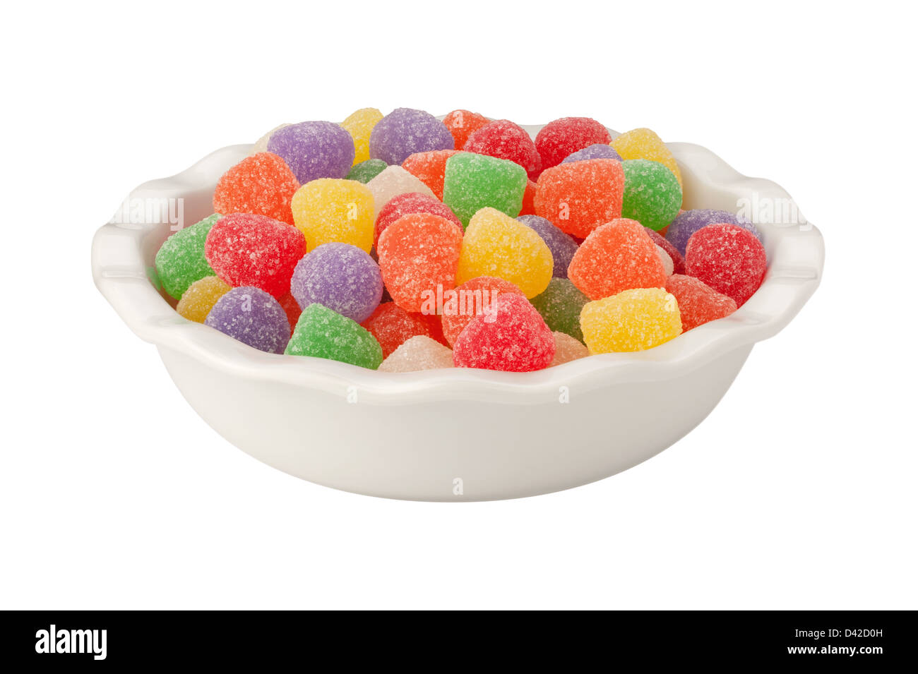 Gum Drops Isolated on a white background - Stock Image