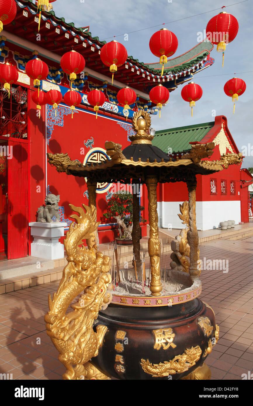 Brunei, Bandar Seri Begawan, Chinese Temple, - Stock Image