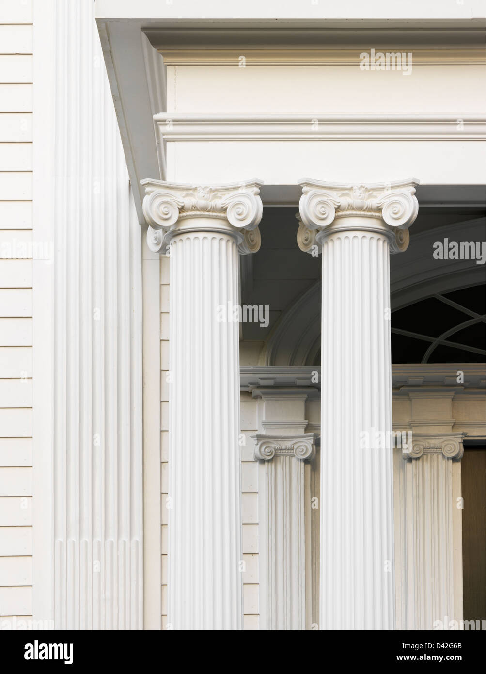 detail of ionic column - Stock Image