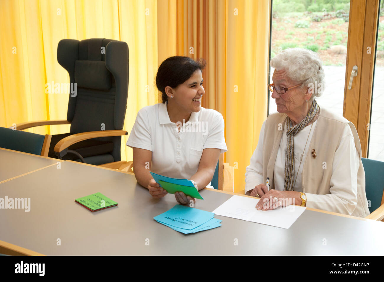 Essen, Germany, a stroke patient at gedaechtnistraining - Stock Image