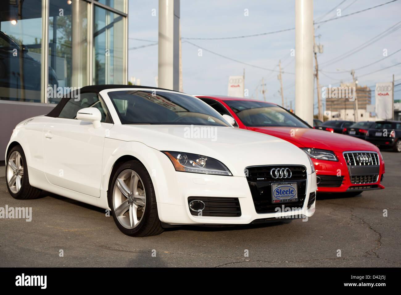 New Audi Tt And S4 Model Cars At A Dealership In Halifax Nova Stock Photo Alamy
