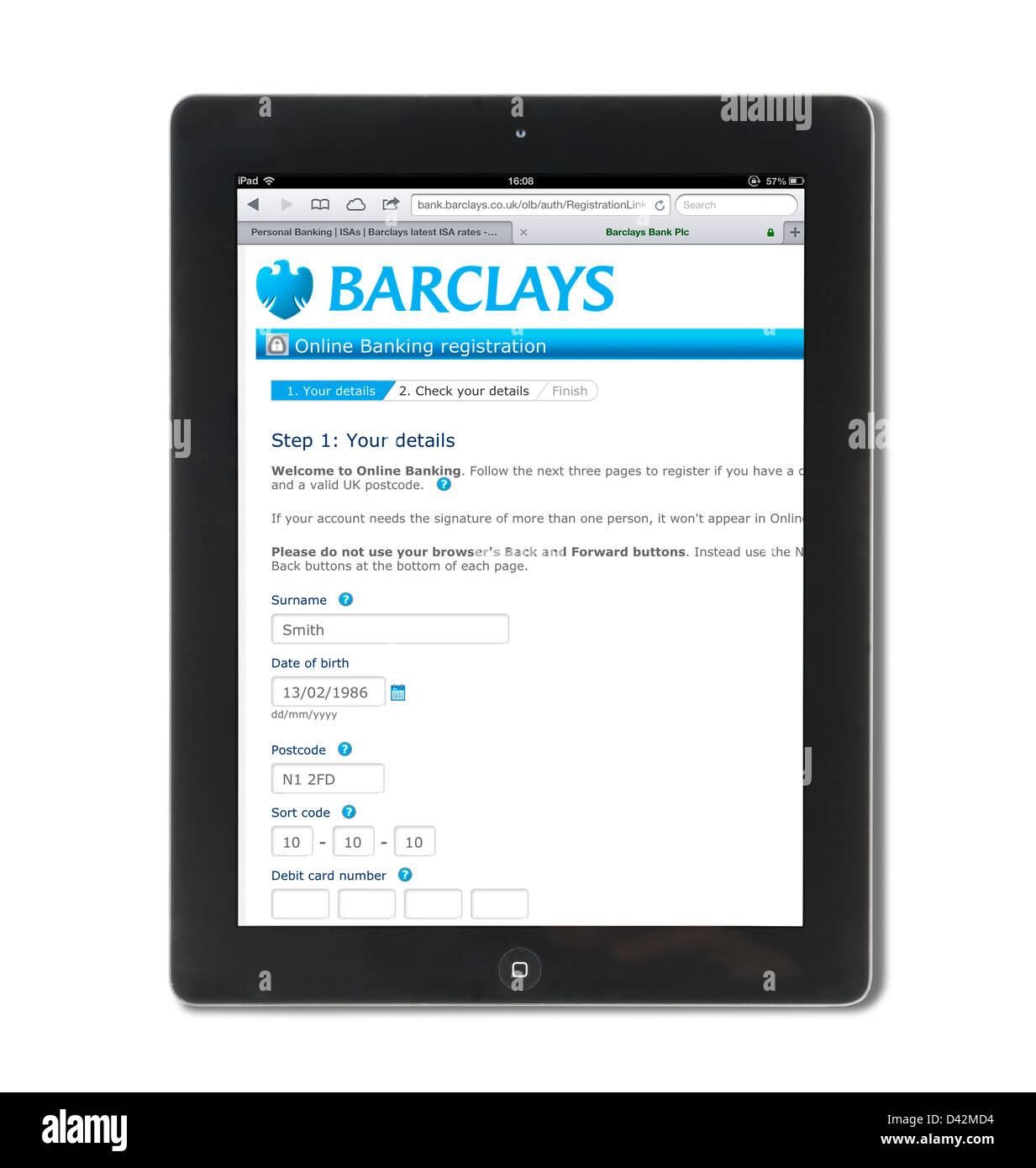 Barclays Internet Banking Stock Photos & Barclays Internet
