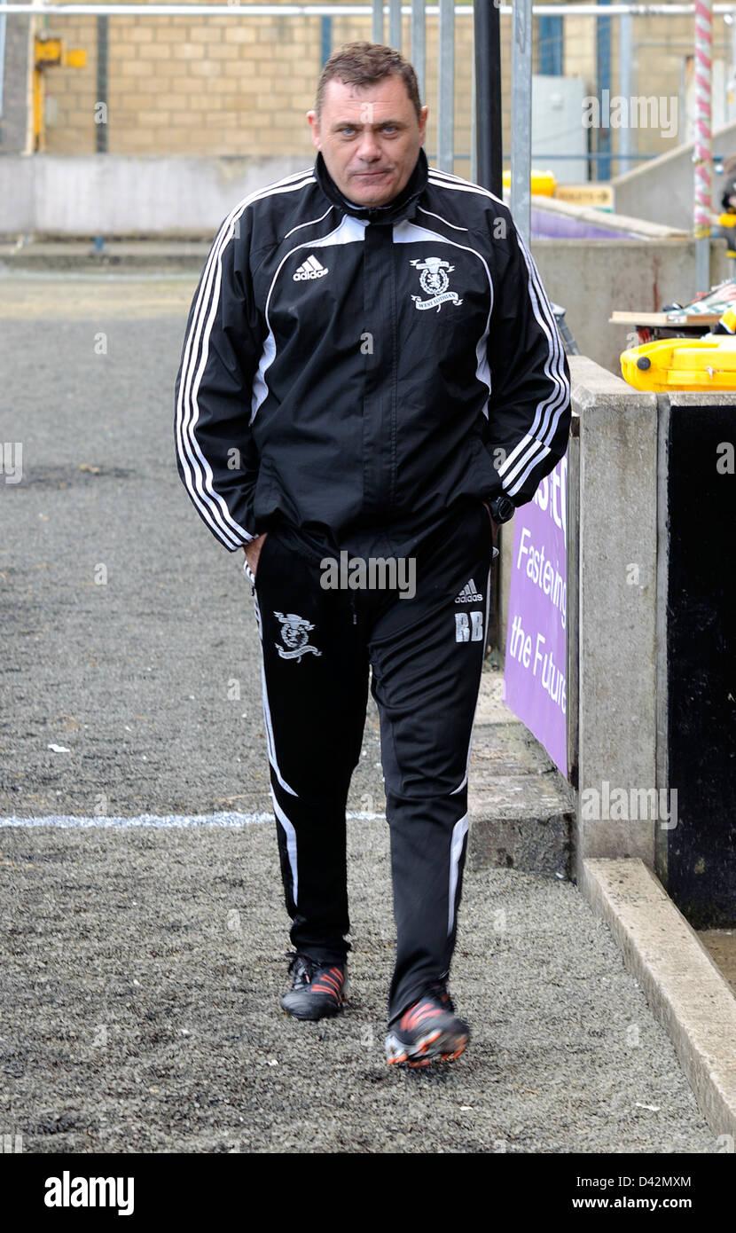 Livingston caretaker Manager Ritchie Burke - Stock Image