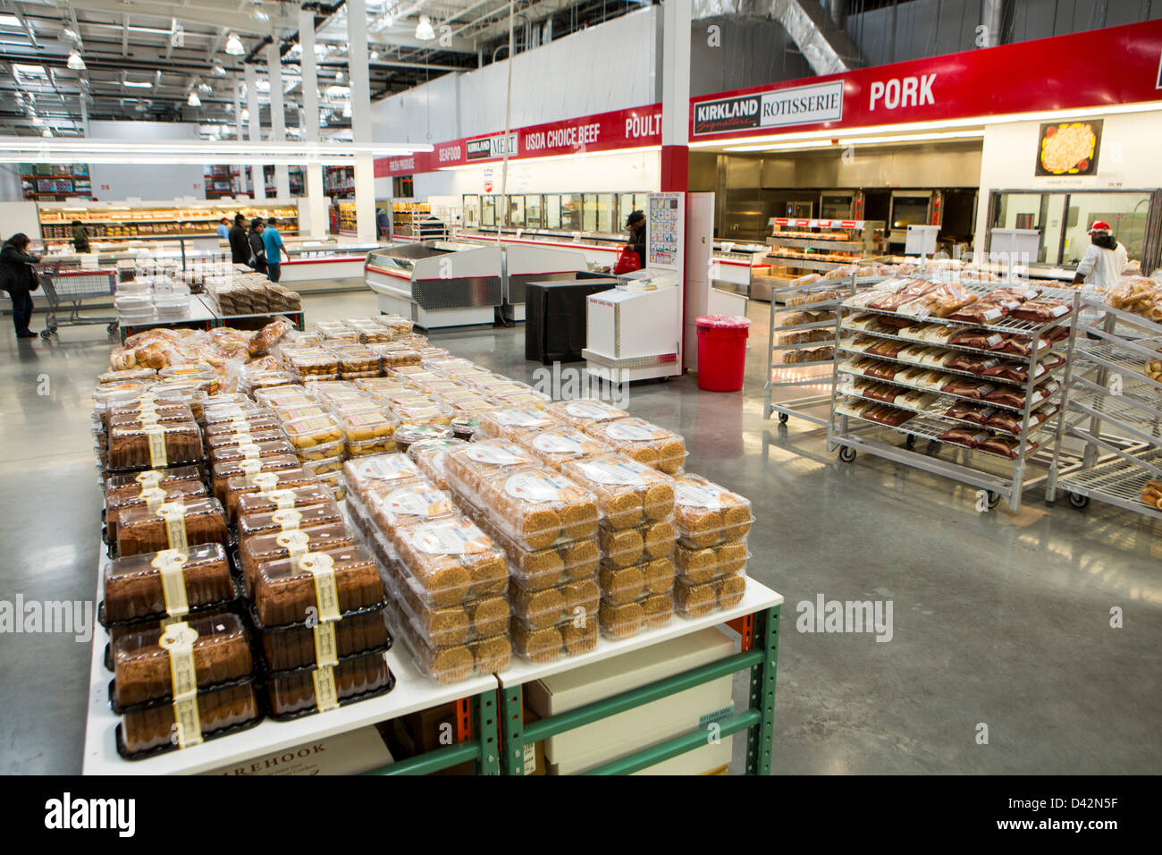 Costco bakery stock photos costco bakery stock images alamy customers shopping in the bakery section of a costco wholesale warehouse club stock image altavistaventures Images