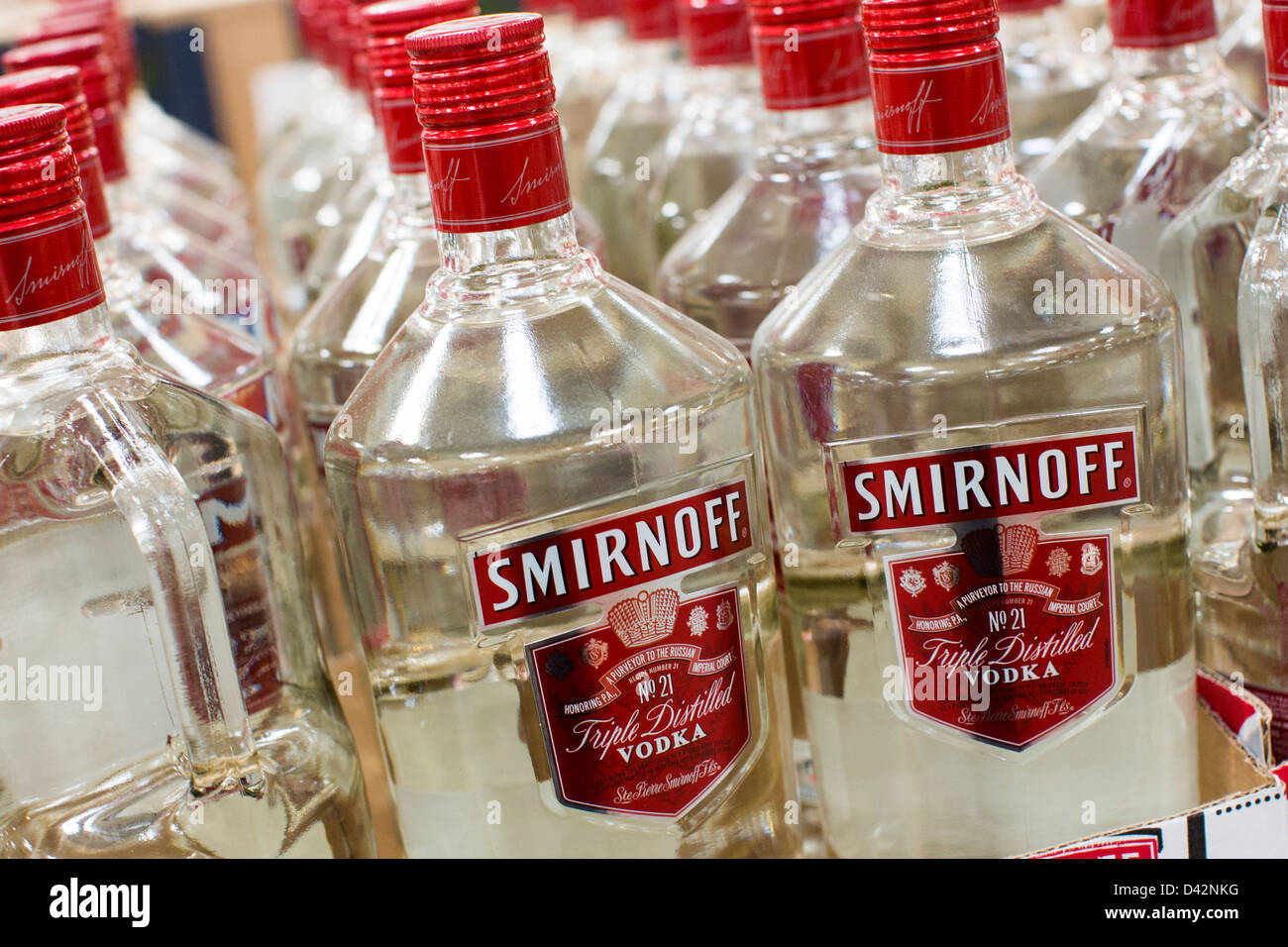 Smirnoff vodka on display at a costco wholesale warehouse club stock smirnoff vodka on display at a costco wholesale warehouse club stock photo 54150644 alamy thecheapjerseys Images
