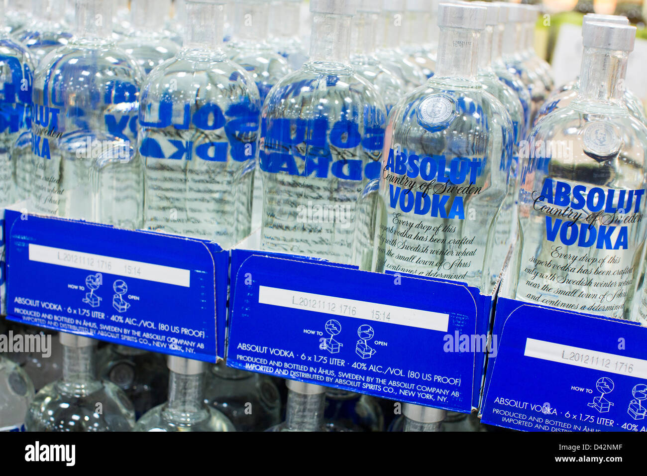 Absolut vodka on display at a costco wholesale warehouse club stock absolut vodka on display at a costco wholesale warehouse club stock photo 54150671 alamy thecheapjerseys Images