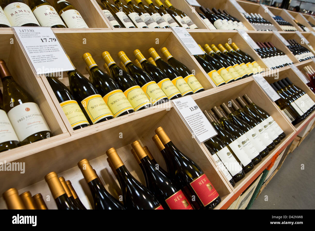 Wine on display at a costco wholesale warehouse club stock photo wine on display at a costco wholesale warehouse club stock photo 54150804 alamy thecheapjerseys Images