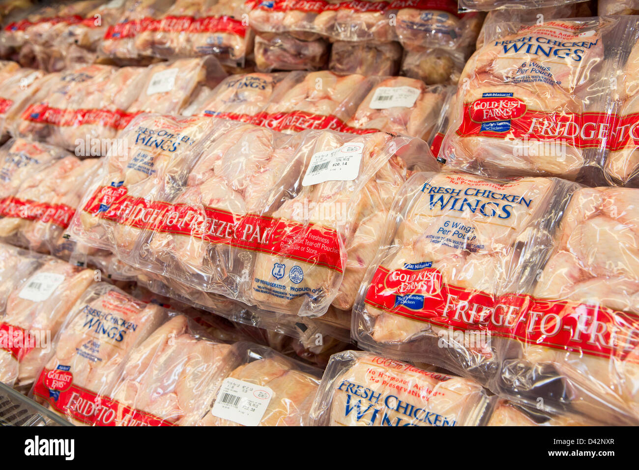 Chicken wings on display at a costco wholesale warehouse club stock chicken wings on display at a costco wholesale warehouse club stock photo 54150847 alamy thecheapjerseys Images