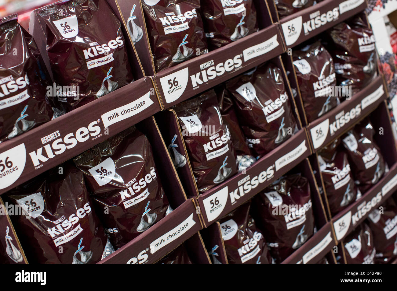 Hersheys kisses on display at a costco wholesale warehouse club hersheys kisses on display at a costco wholesale warehouse club stock photo 54151104 alamy thecheapjerseys Images