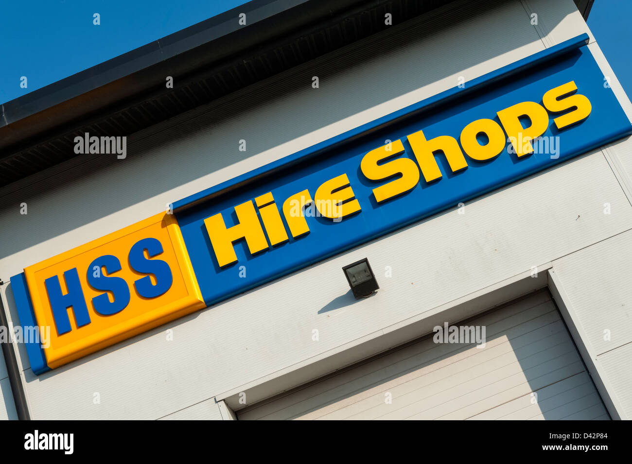 HSS Hire shops in Hereford, UK. - Stock Image