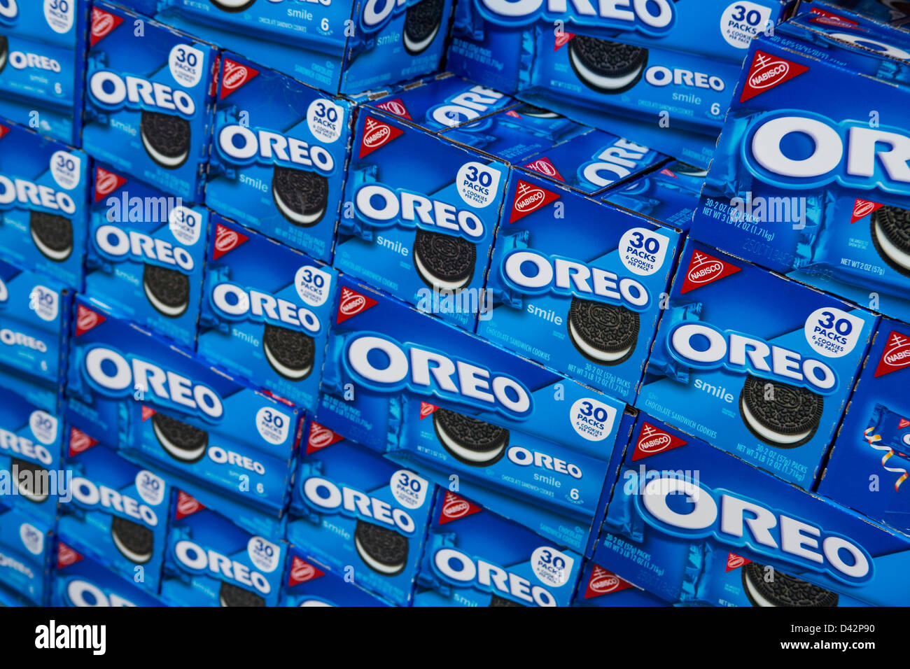 Oreo cookies on display at a costco wholesale warehouse club stock oreo cookies on display at a costco wholesale warehouse club stock photo 54151132 alamy thecheapjerseys Images