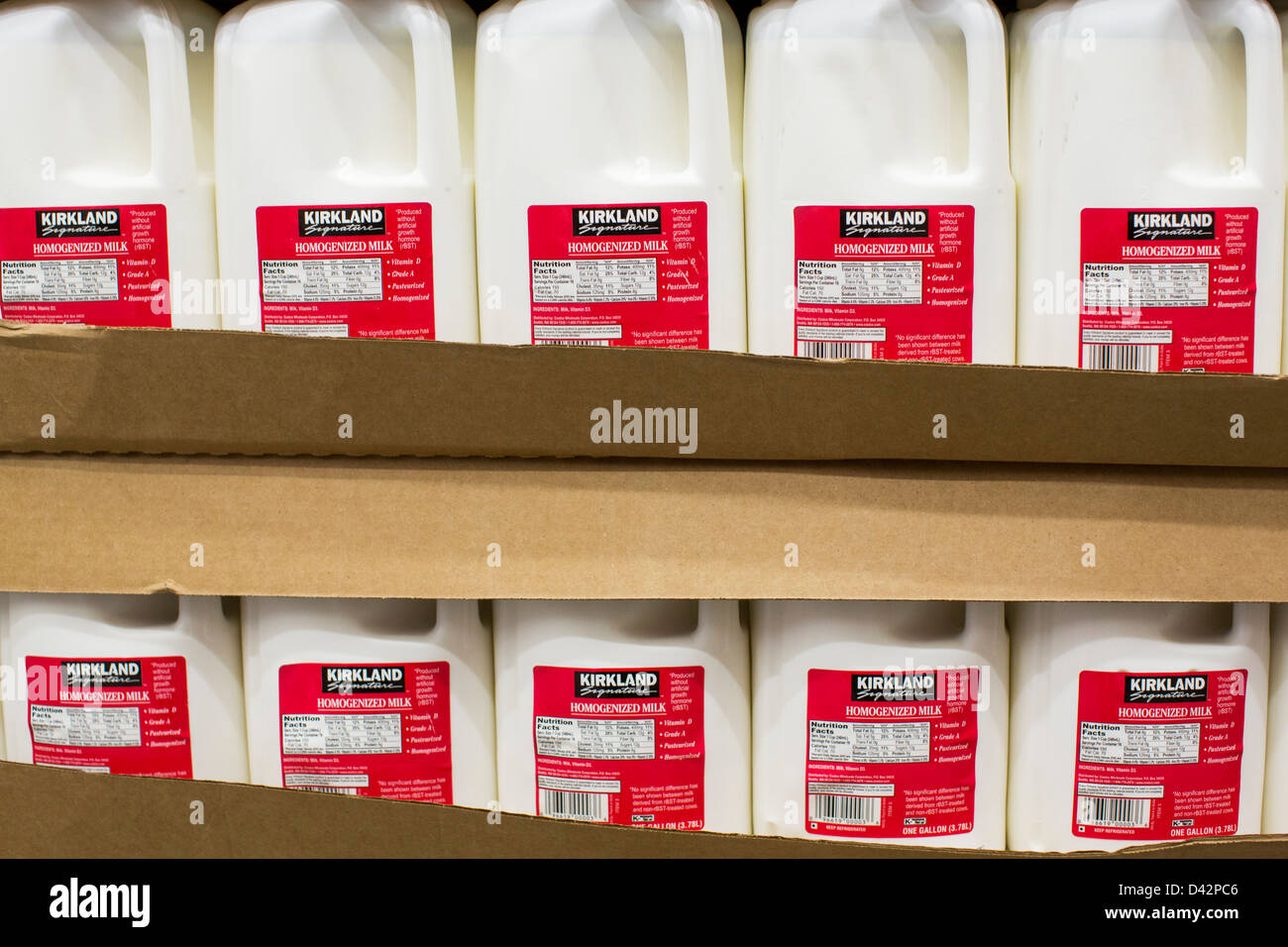 Kirkland milk on display at a costco wholesale warehouse club stock kirkland milk on display at a costco wholesale warehouse club stock photo 54151222 alamy thecheapjerseys Images