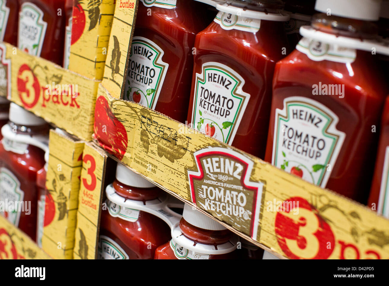 Heinz tomato ketchup on display at a costco wholesale warehouse club heinz tomato ketchup on display at a costco wholesale warehouse club stock photo 54151249 alamy thecheapjerseys Images