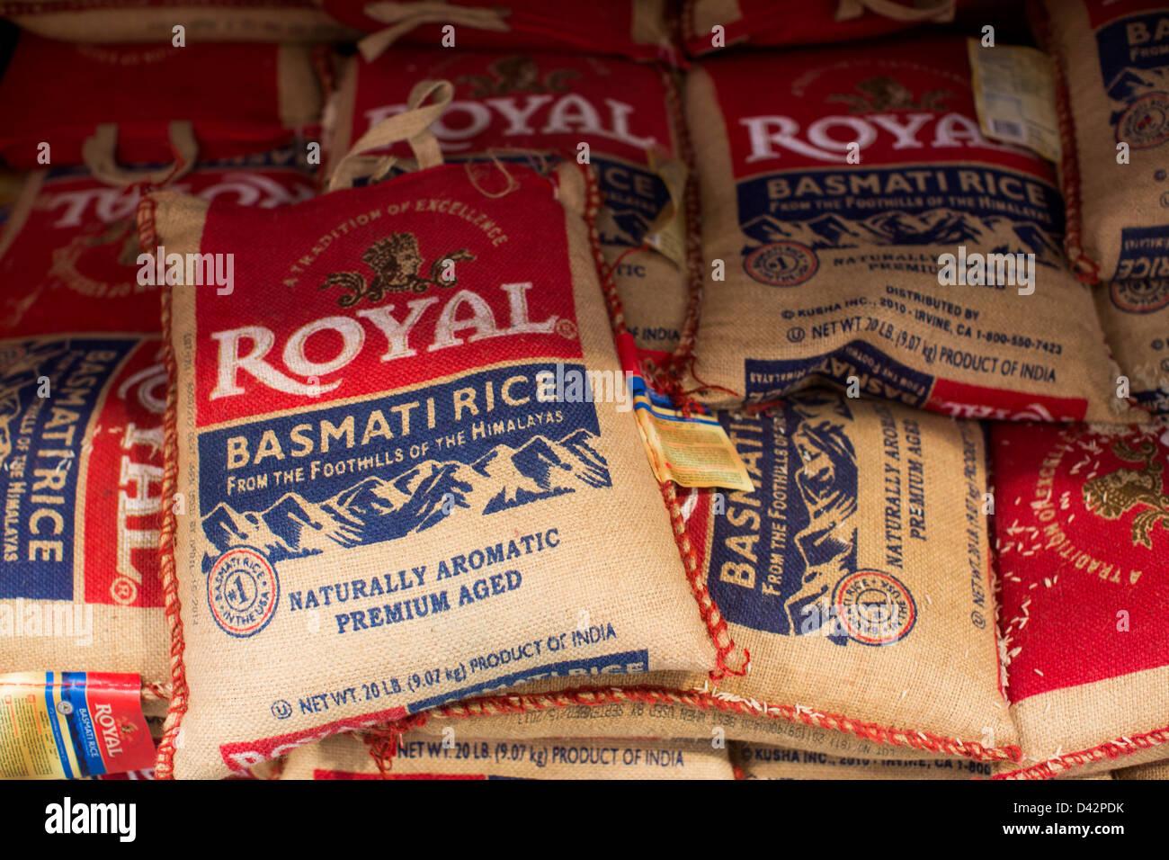 Basmati rice on display at a Costco Wholesale Warehouse Club Stock