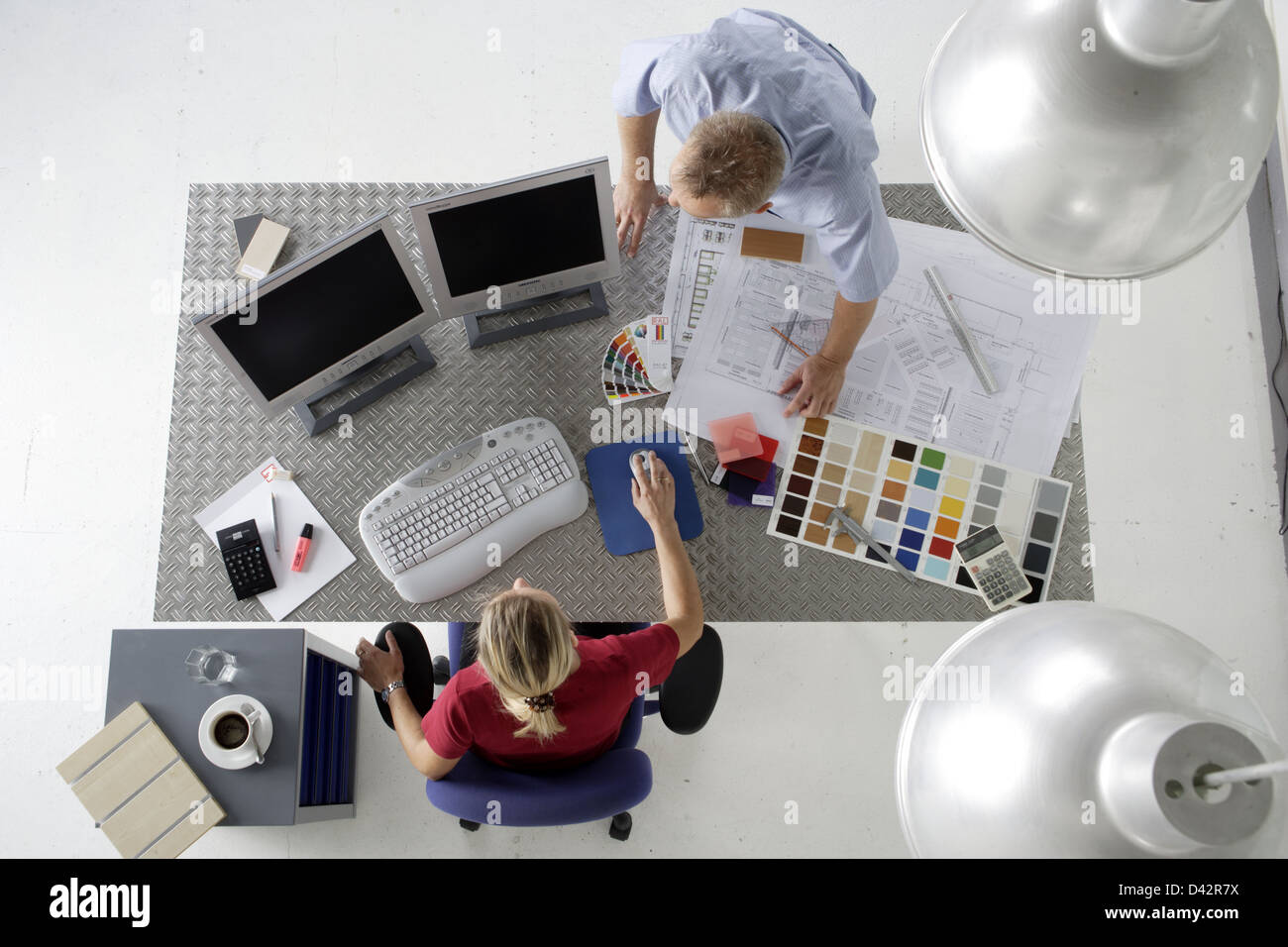 Freiburg, Germany, design planning in an office Stock Photo