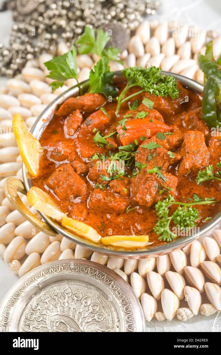 Indian food, Shahi Rogan Josh, lamb - Stock Image