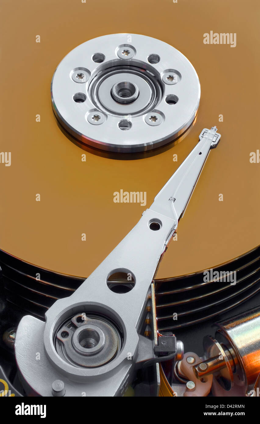 Full focus HDR composition of hard drive - Stock Image
