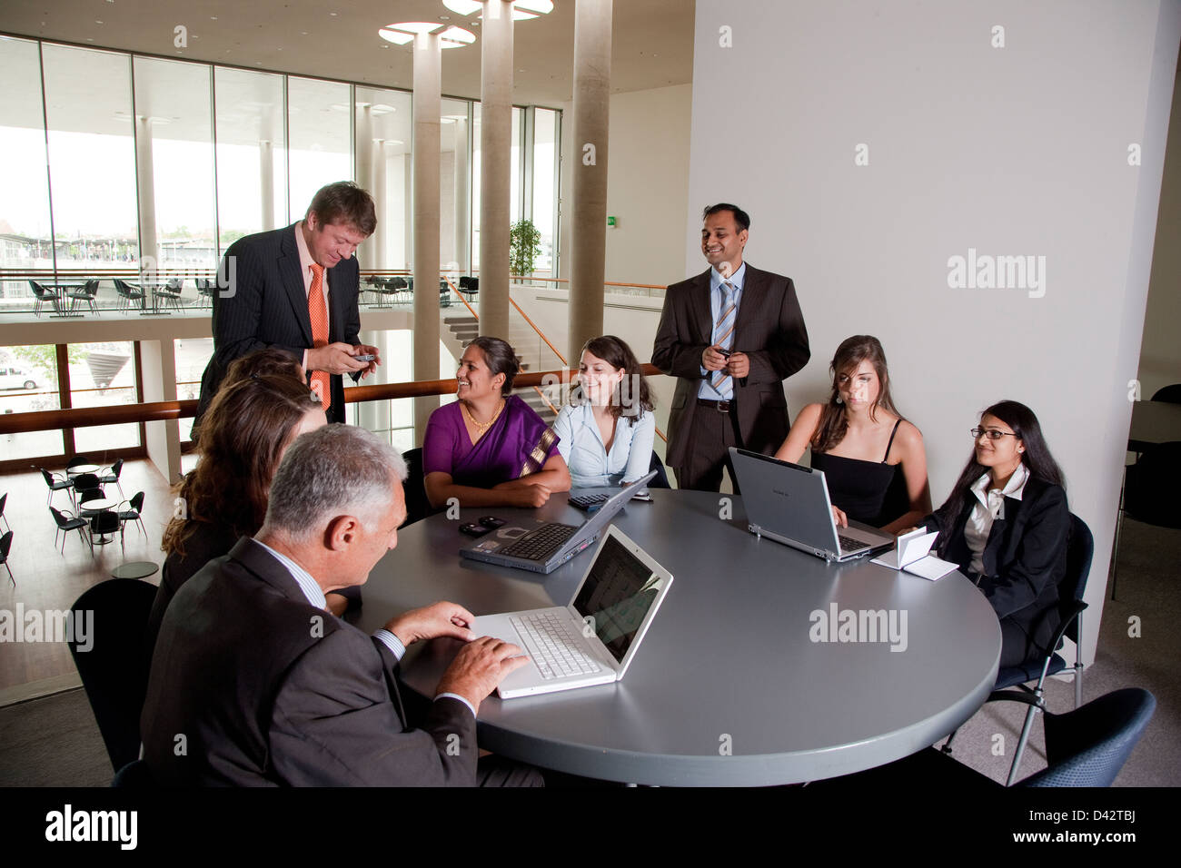 Exceptionnel Freiburg, Germany, An International Business Team At A Meeting   Stock Image