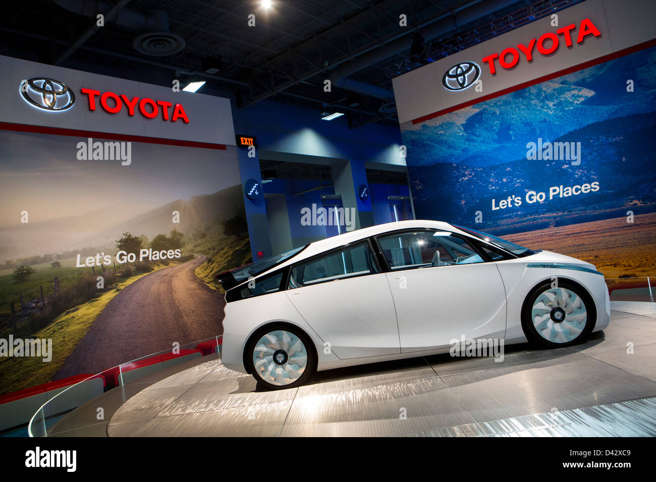 A Toyota FT-Bh Hybrid Concept Car on display at the 2013 Washington, DC Auto Show. - Stock Image