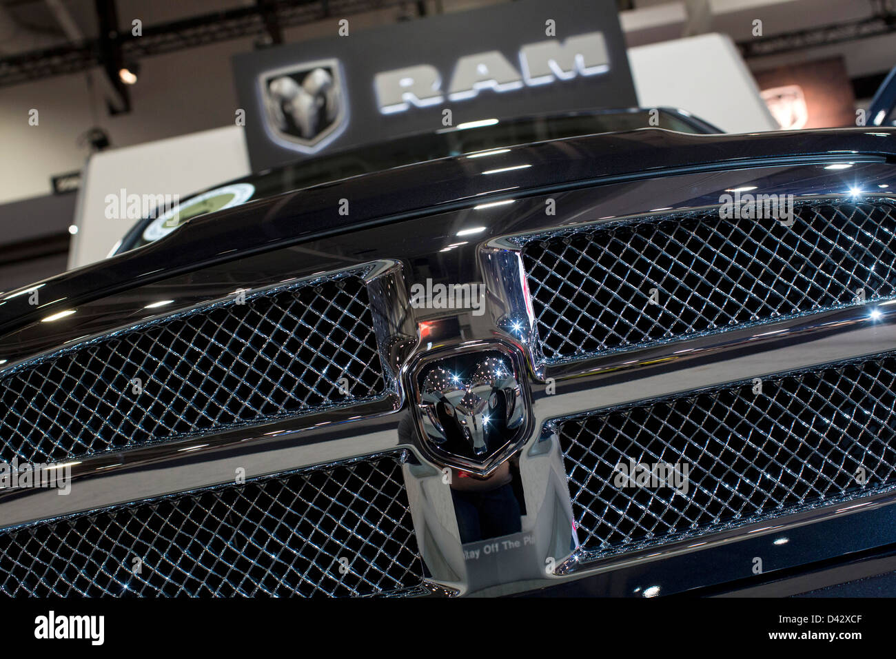 A Dodge Ram pick-up truck on display at the 2013 Washington, DC Auto Show. - Stock Image