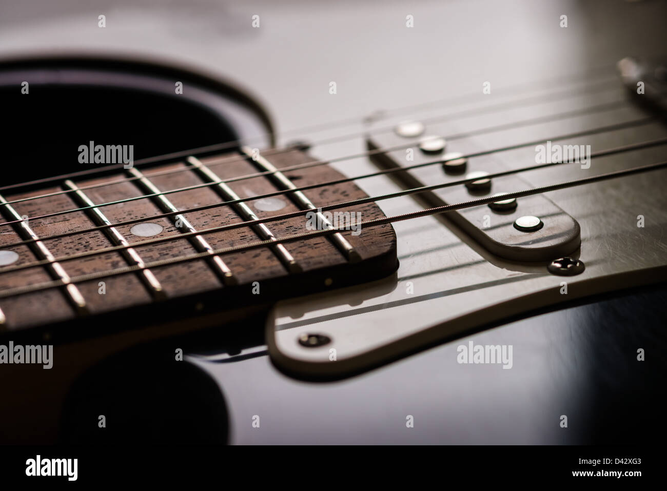 Close Up Of Fender Stratocaster Electric Guitar Stock Photo