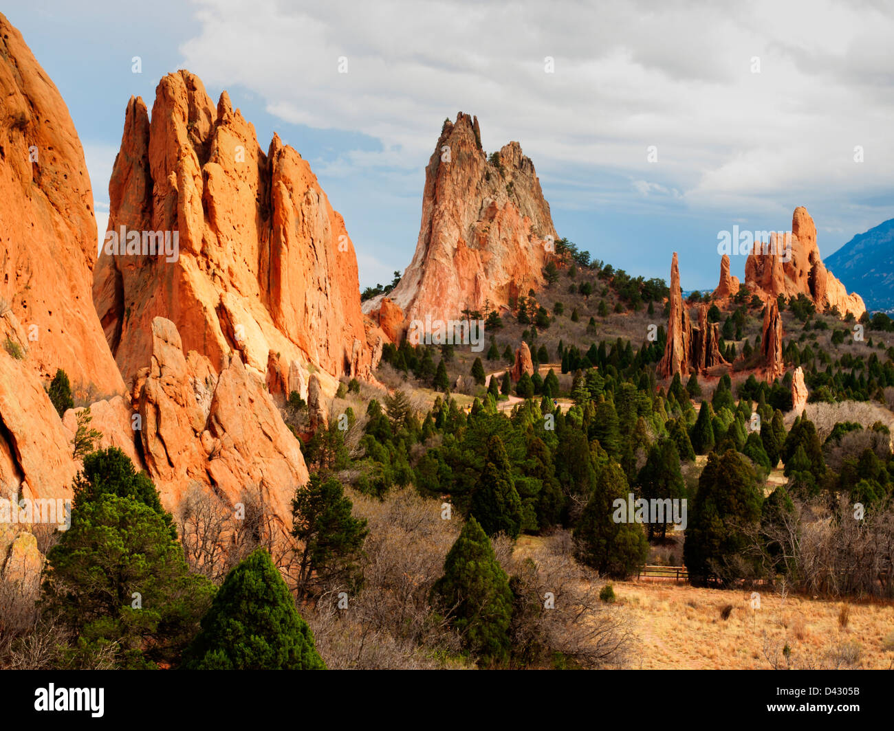 Sunset at Garden of the Gods Rock Formation in Colorado Stock Photo ...