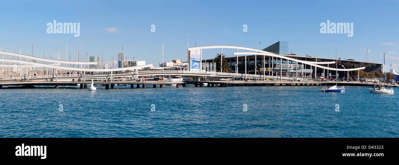 Port Vell  in Barcelona, Spain. - Stock Image