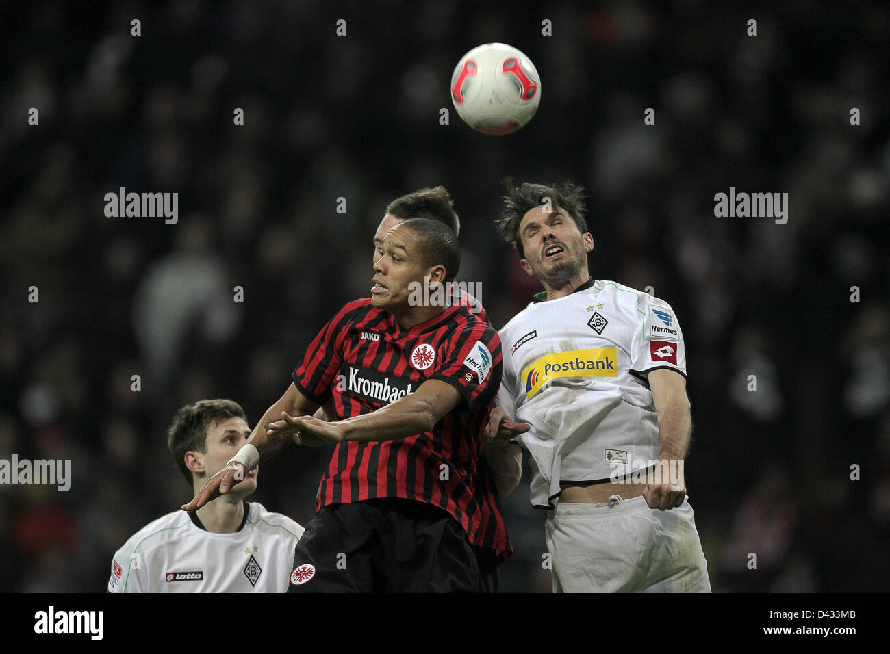 Frankfurt's Anderson (C) vies for the ball with Moenchengladbach's Martin Stranzl (R) during the Bundesliga - Stock Image