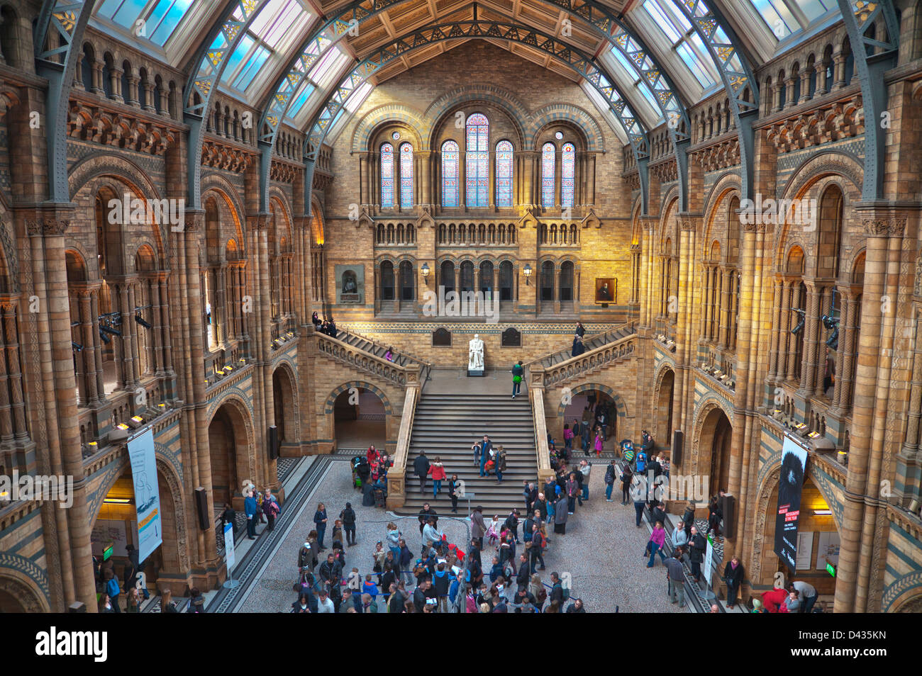 Main hall in the Natural History Museum, South Kensington, London, United Kingdom - Stock Image