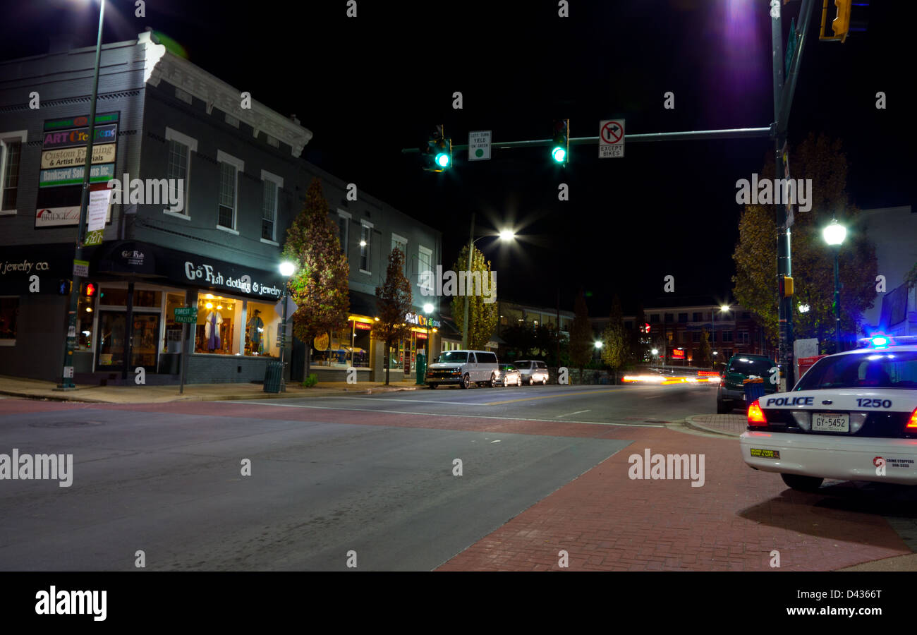 NorthShore of Chattanooga, Tennessee at night - Stock Image