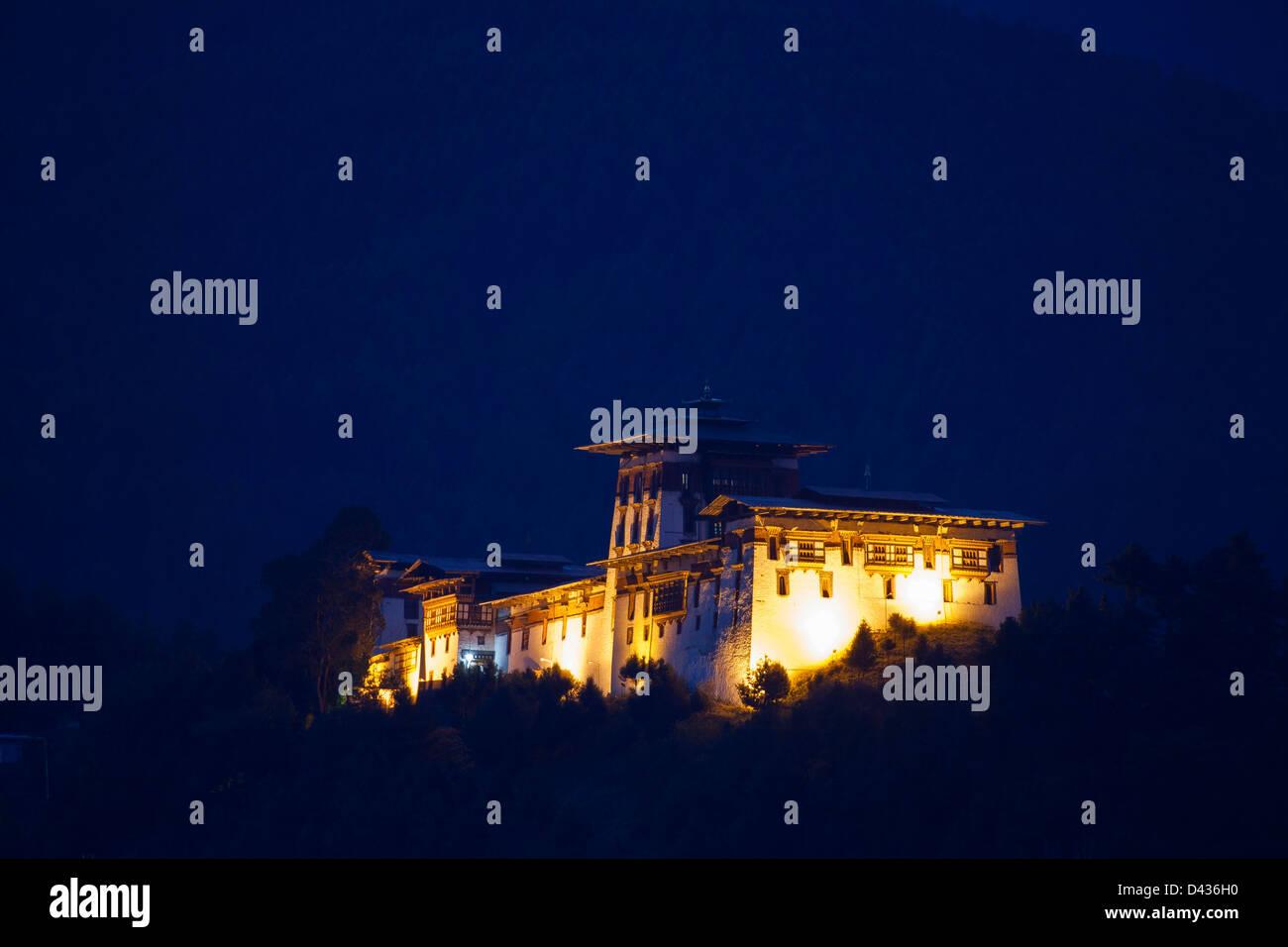 Jakar Dzong built in 1667. Bumthang, Central Bhutan. - Stock Image