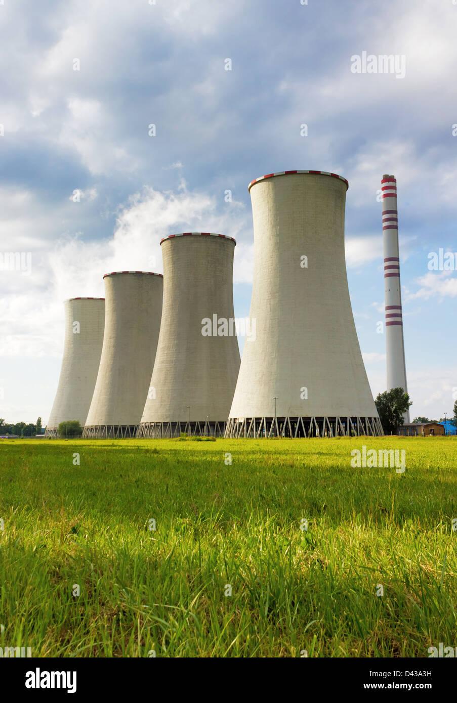 Coal-burning power plant - Stock Image