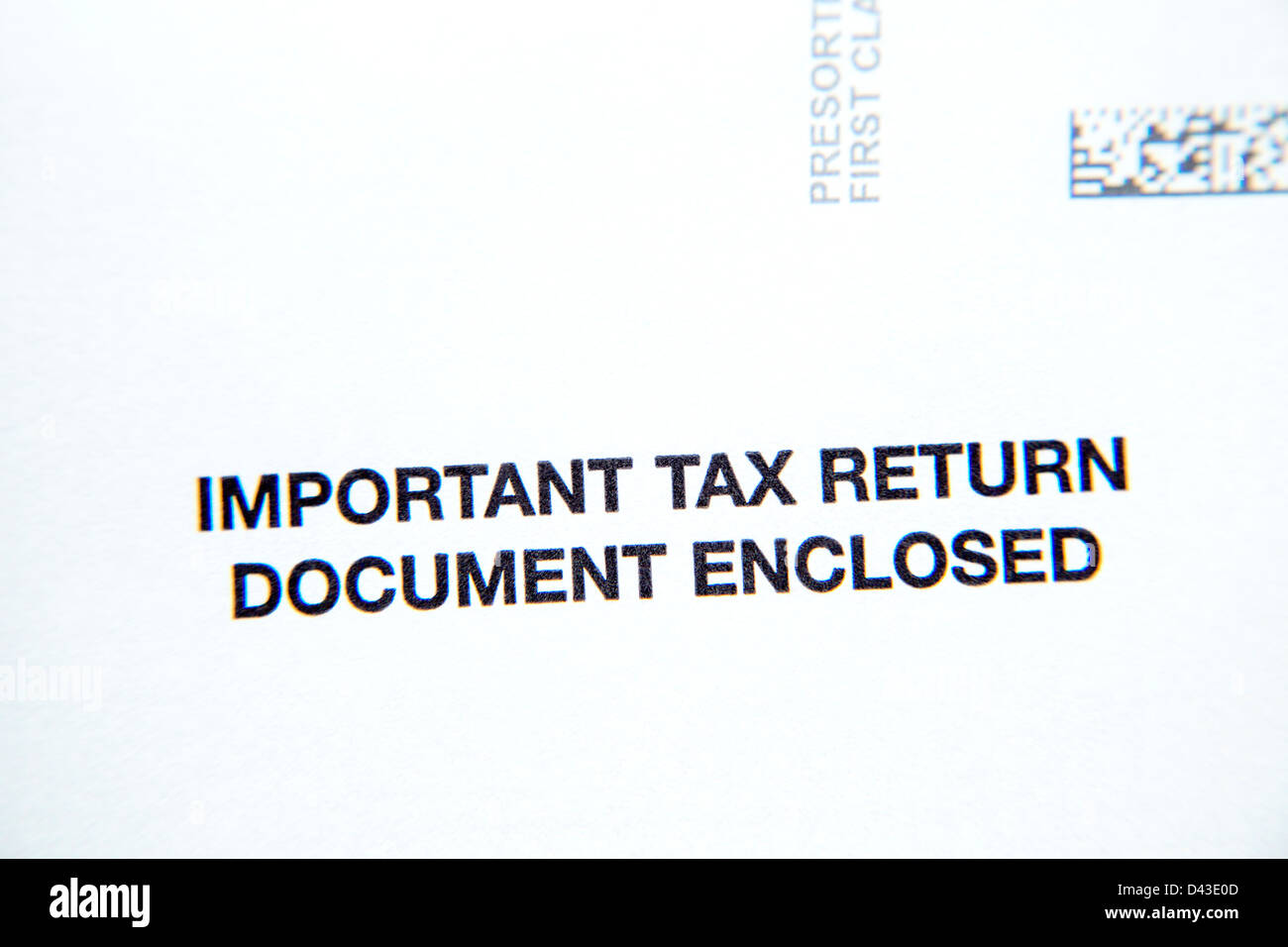 Tax document - Stock Image