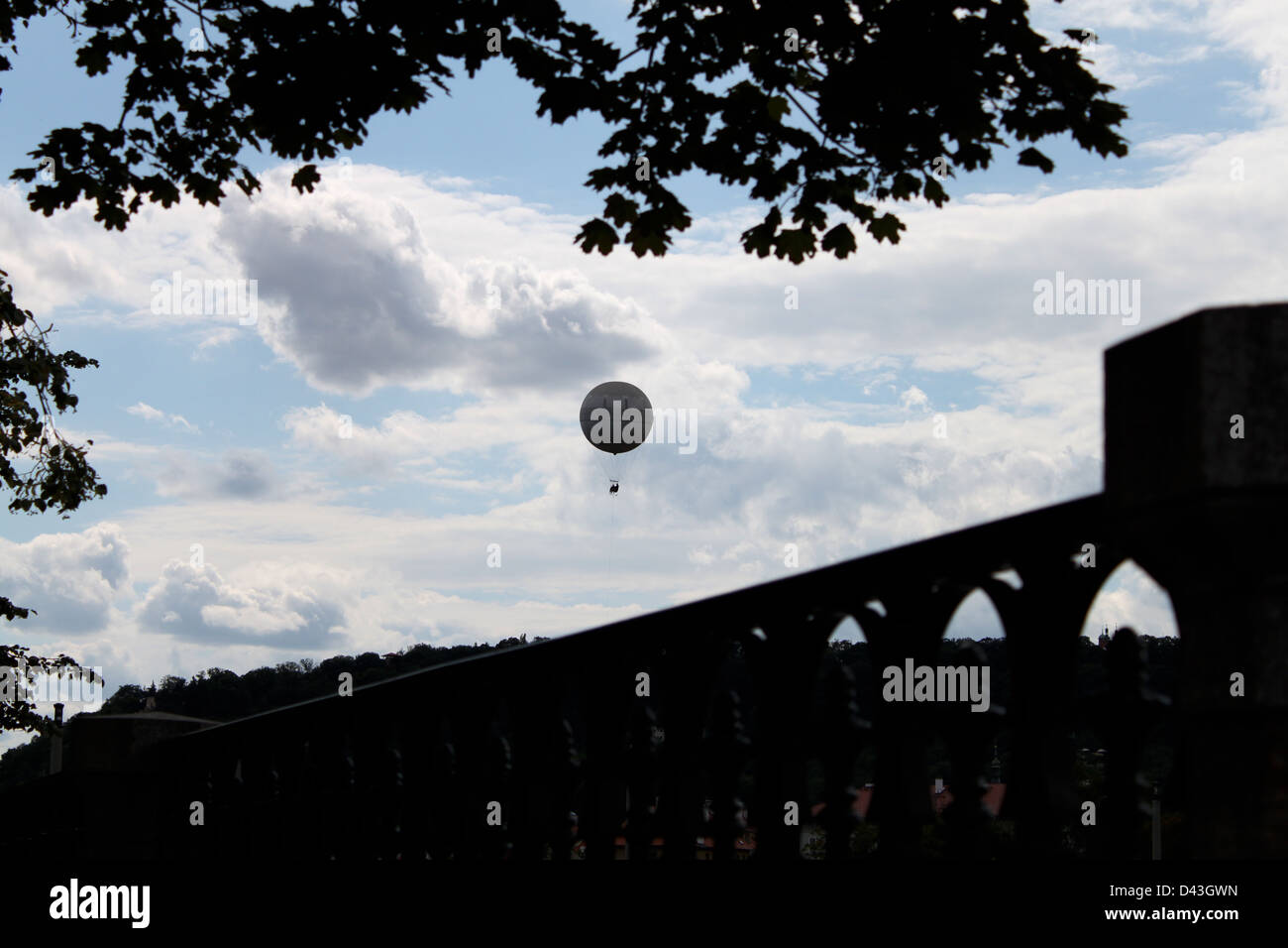 Hot Air Balloon Silhouete - Stock Image