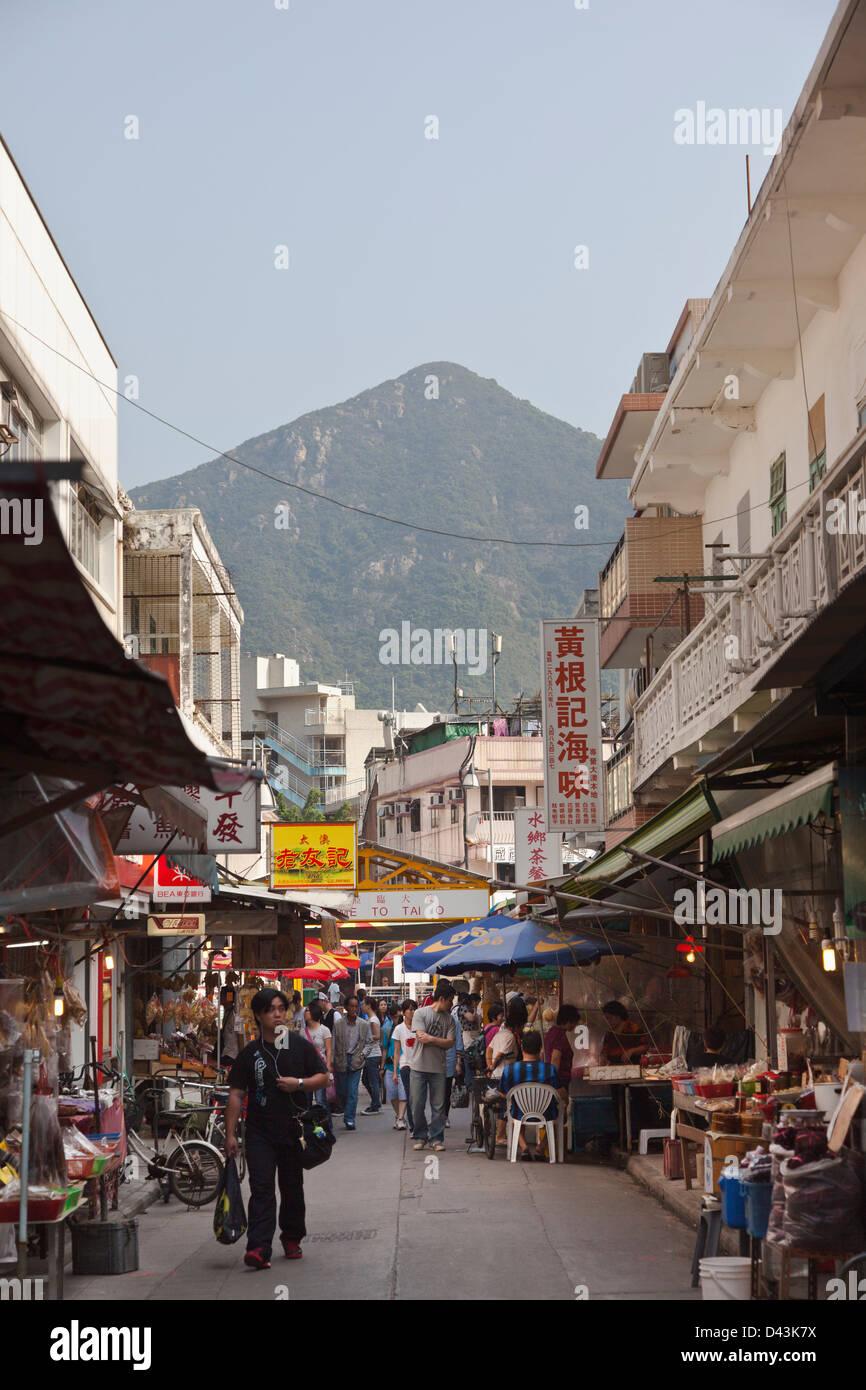 Tai O fishing village, Lantau Island, Hong Kong, China - Stock Image